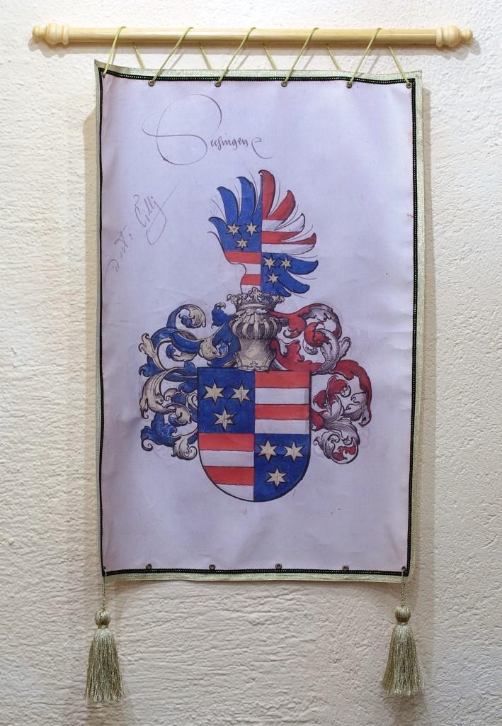 grofovska (poročna dvorana) - grb grofov Celjskih)